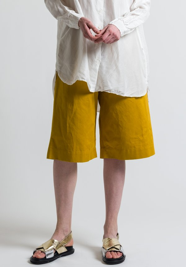 Marni Drill Shorts in Sunflower