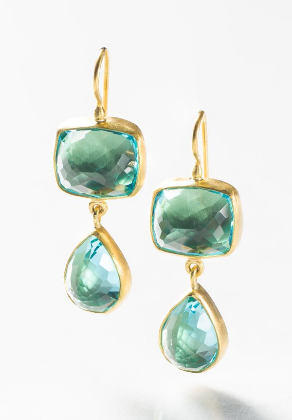 Stephanie Albertson 22K, Blue Topaz Earrings