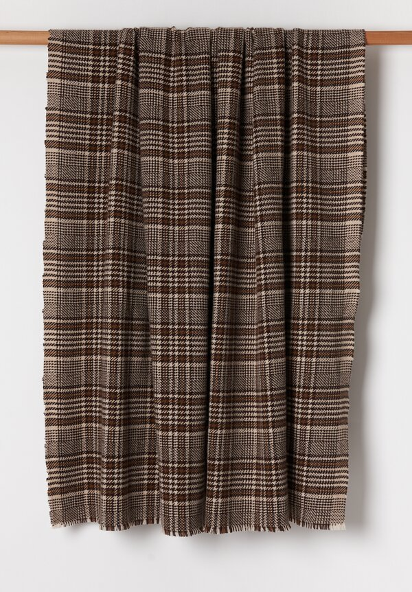 Alonpi Cashmere Plaid Woven Cashmere Throw in Yole