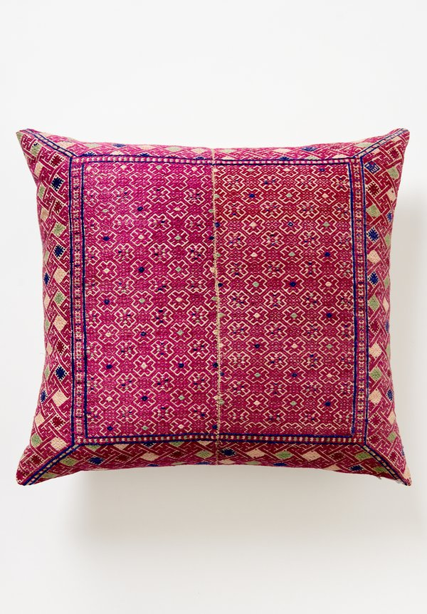 Shobhan Porter Vintage Chinese Embroidered Pillow