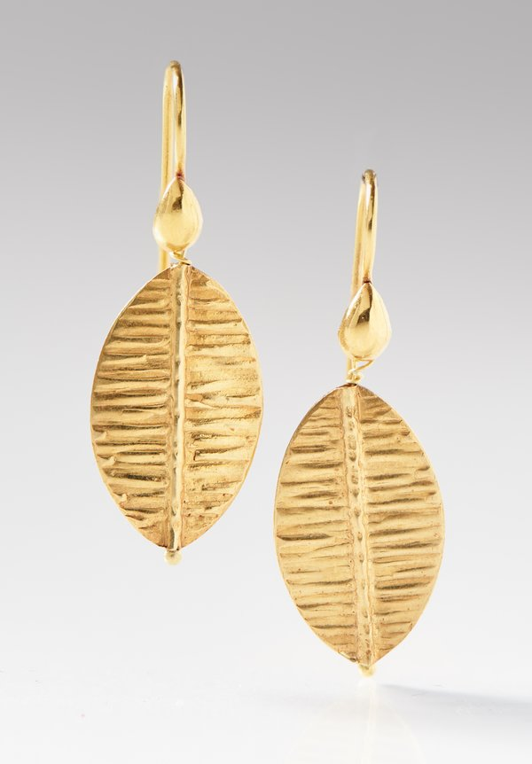 Greig Porter 18K, Leaf Shaped Earring