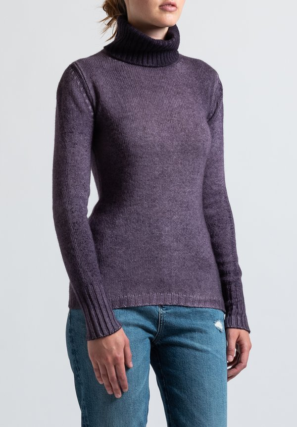 Avant Toi Fitted Turtleneck Sweater in Myrtle