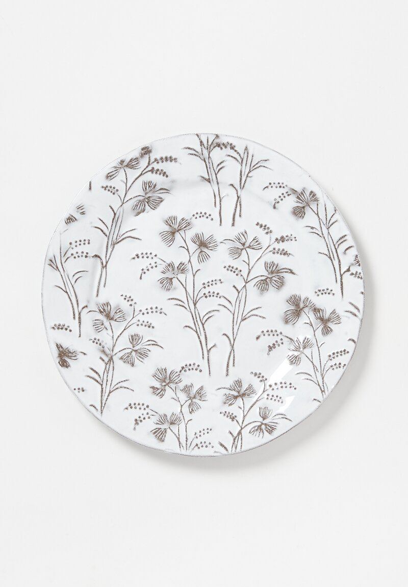 Astier de Villatte Large Robinson Dinner Plate in White