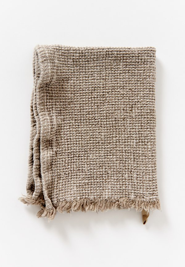 Aqua Vireo Naturally Dyed Hand Towel in Linen