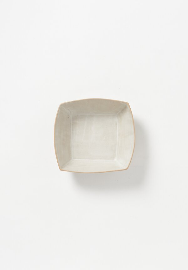 Laurie Goldstein Ceramic Square Bowl in White