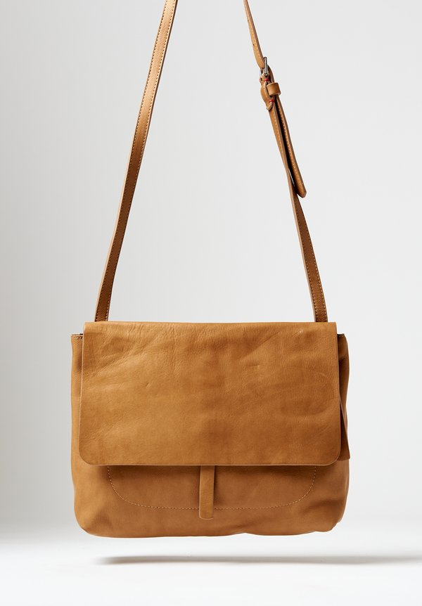 Massimo Palomba Robin Tibet Crossbody Bag in Camel