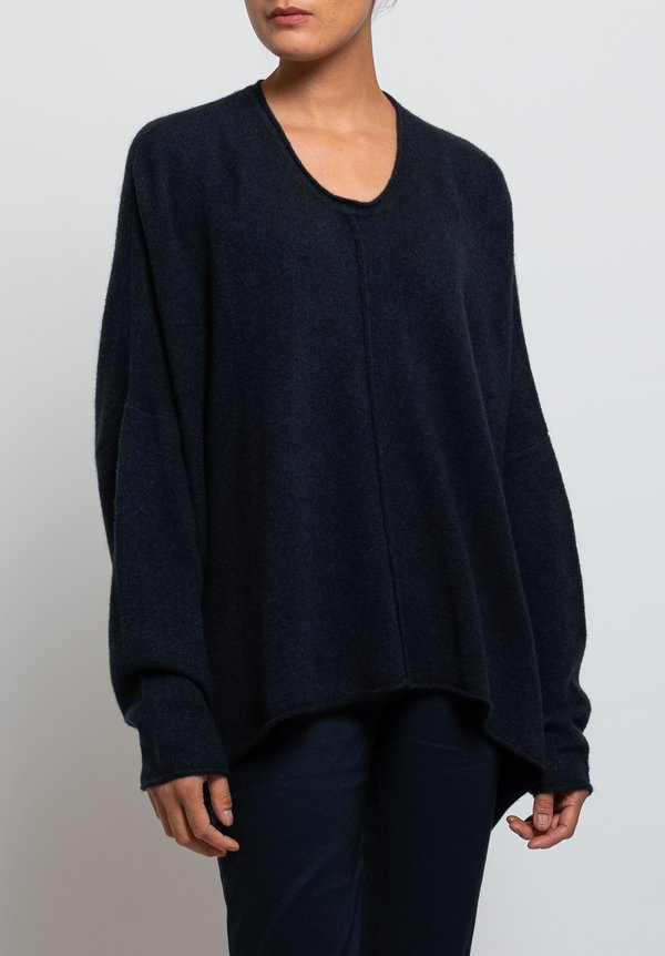 Rundholz Black Label Oversized Sweater in Dark Blue
