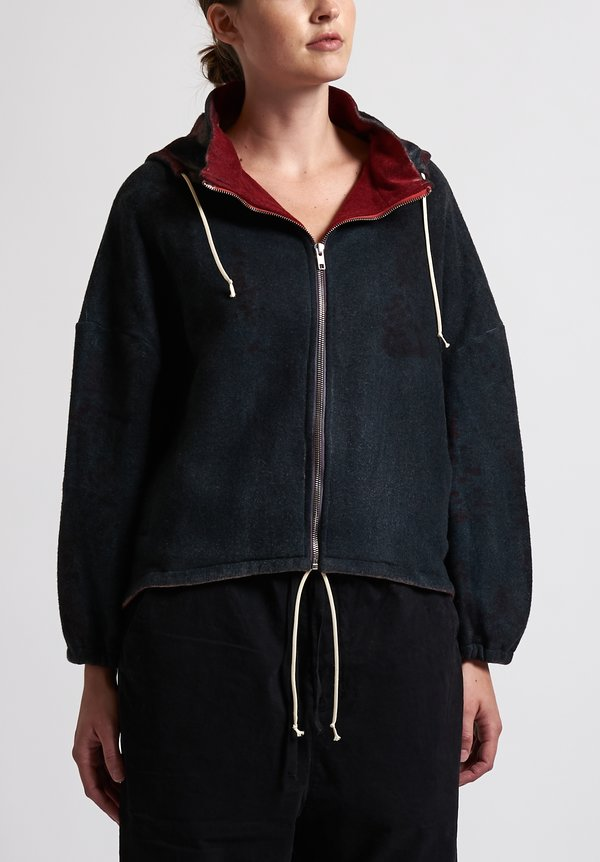 f Cashmere Bomber Jacket in Black/ Red