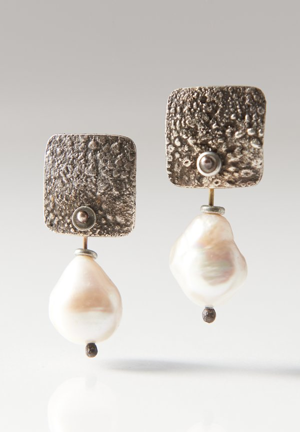 Holly Masterson Rough Freshwater Pearl Earrings