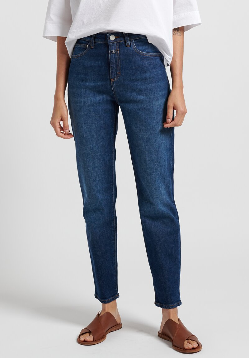Closed Baker High Jeans in Dark Blue