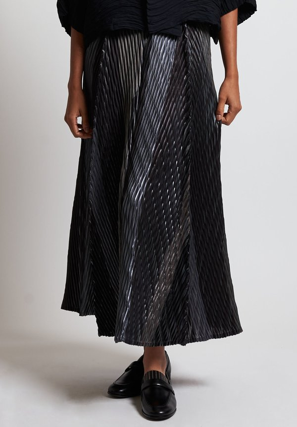 Issey Miyake Sparkle Pleats Skirt in Pyrite