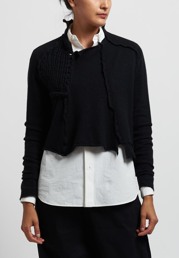 Rundholz Chunky Stitch Accent Sweater in Black