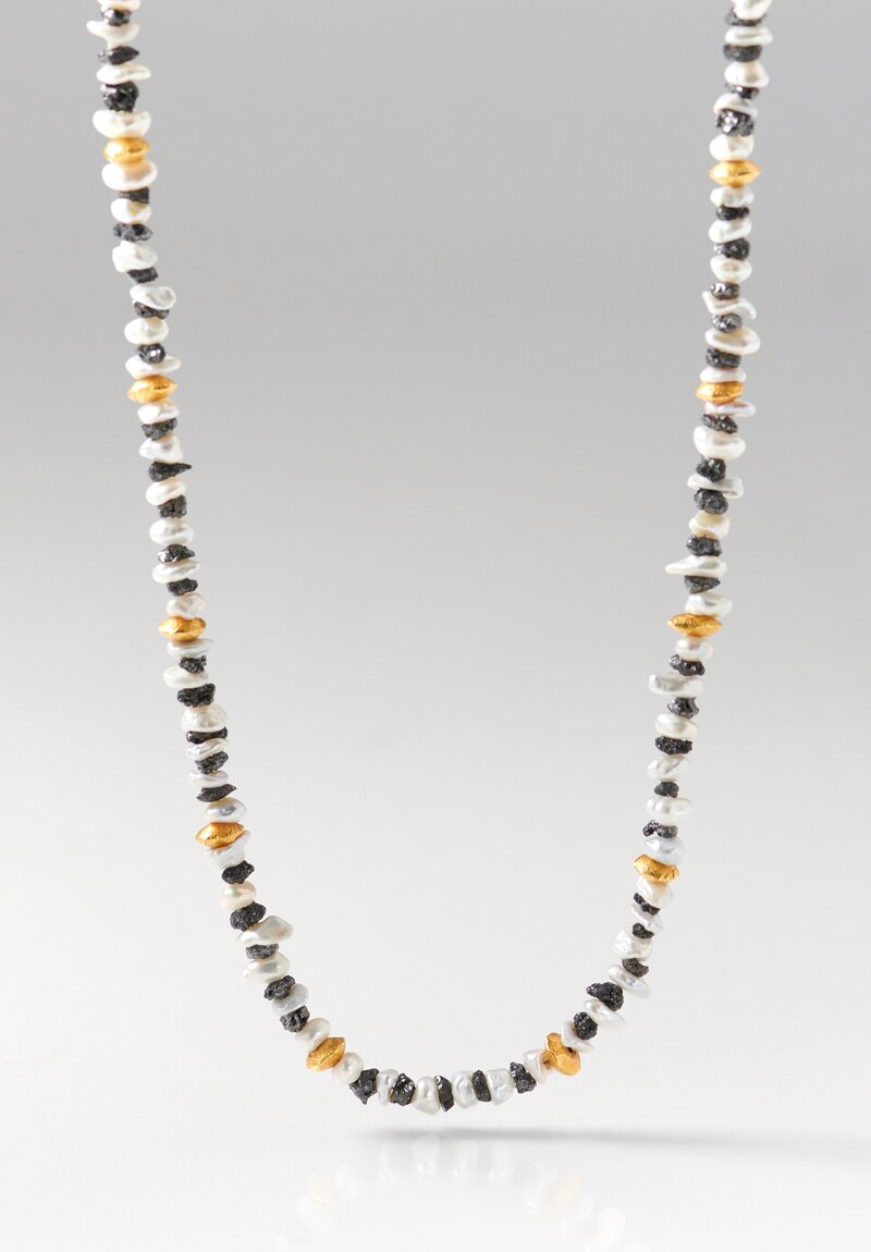 Greig Porter 18K Gold, Corundum and Pearl Short Necklace