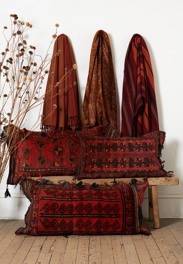 Afghan Baluch Balisht Pillow in Red/Brown