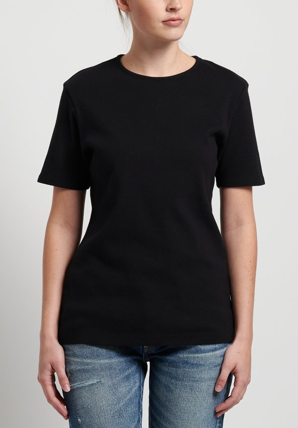 GRP1 Knits Cotton Shaped Tee in Black
