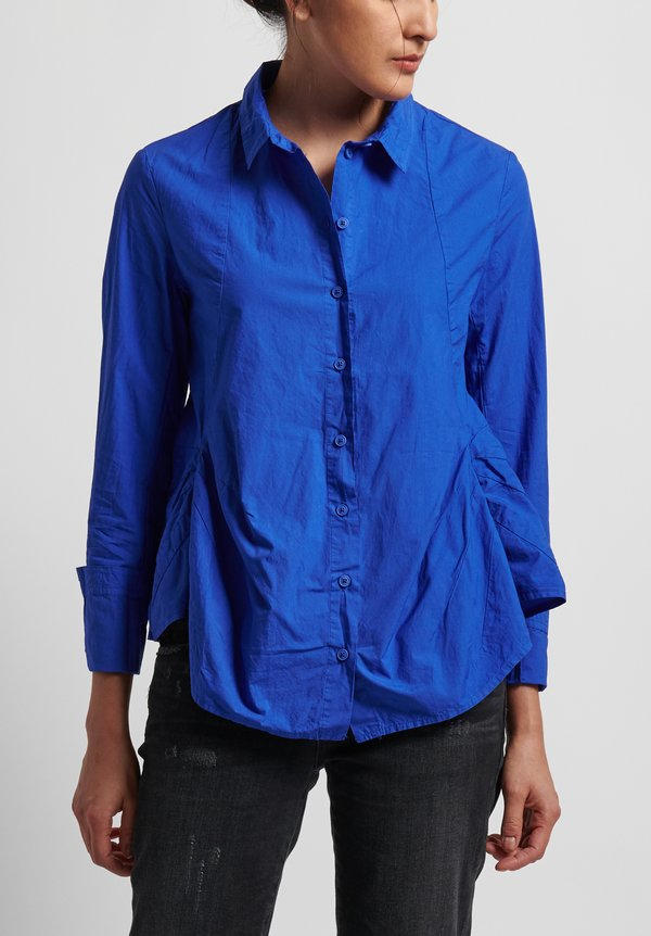 Rundholz Black Label Button Front Shirt in Curacao