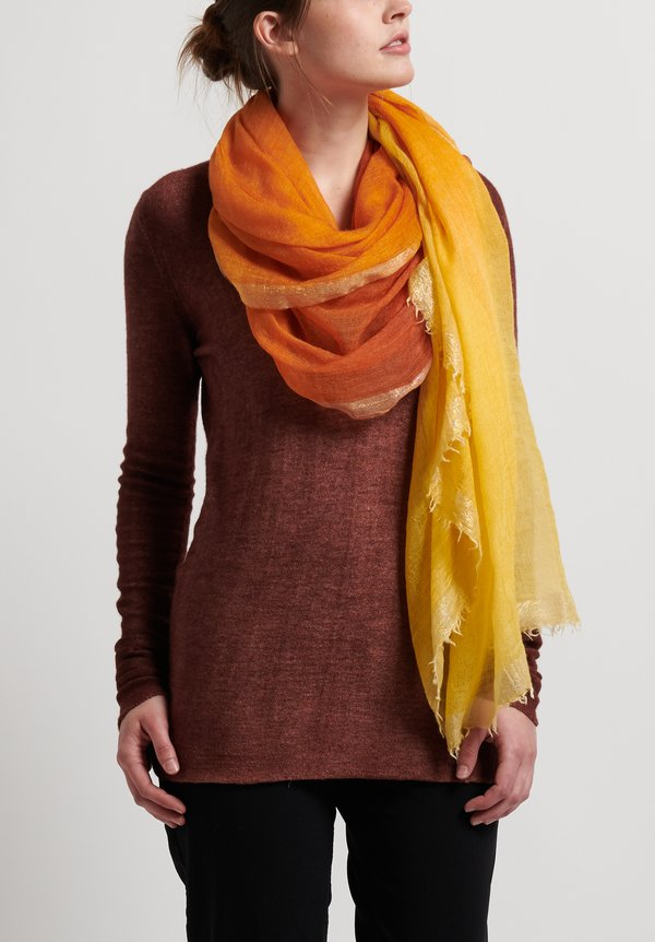 Faliero Sarti Saura Scarf in Orange/Yellow