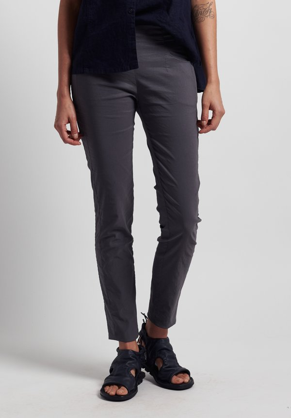 Rundholz Black Label Stretch Linen/ Cotton Skinny Pants in Rock