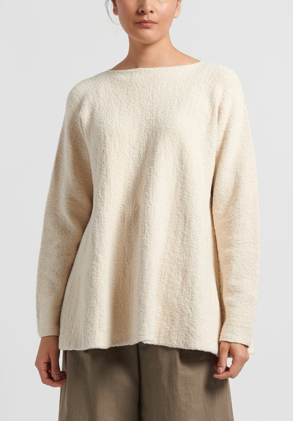 Lauren Manoogian Pima Cotton Flare Pullover in Raw White