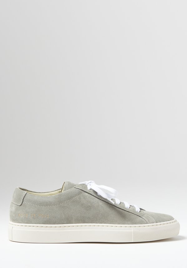 Common Projects Original Suede Achilles Low Contrast Sole Sneaker in Grey