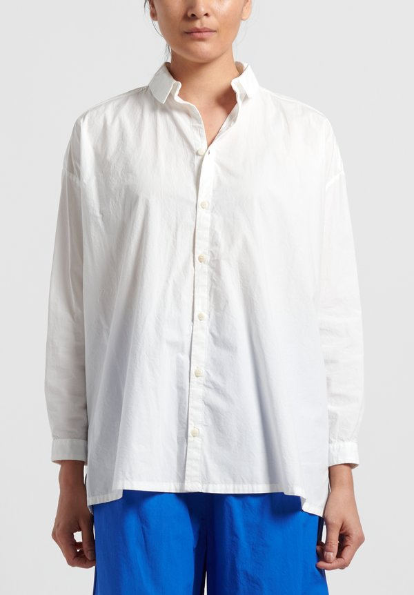 Toogood Cotton Poplin Draughtsman Shirt in Chalk