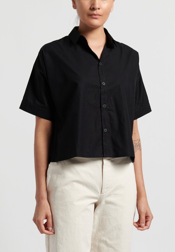 Toogood Fine Cotton Short Gardener Shirt in Flint