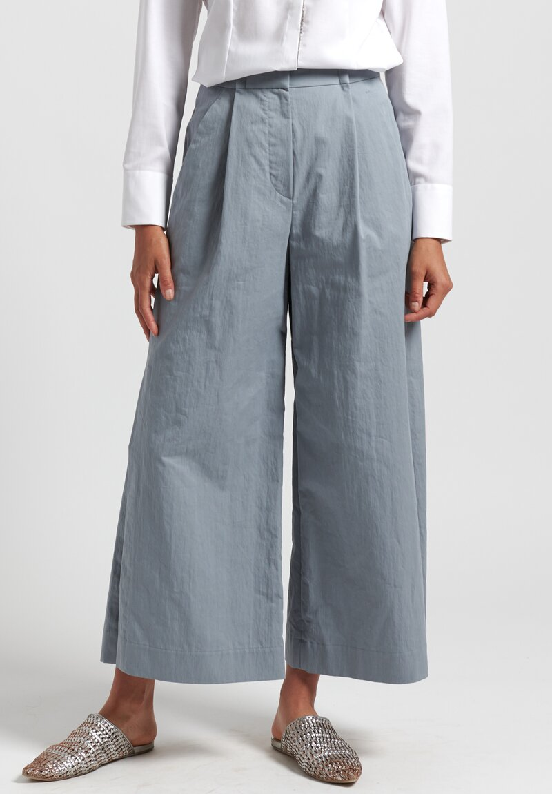 Brunello Cucinelli Cotton Gabardine Cropped Trousers