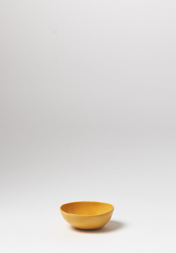 Bertozzi Solid Small Pebble Bowl in Giallo