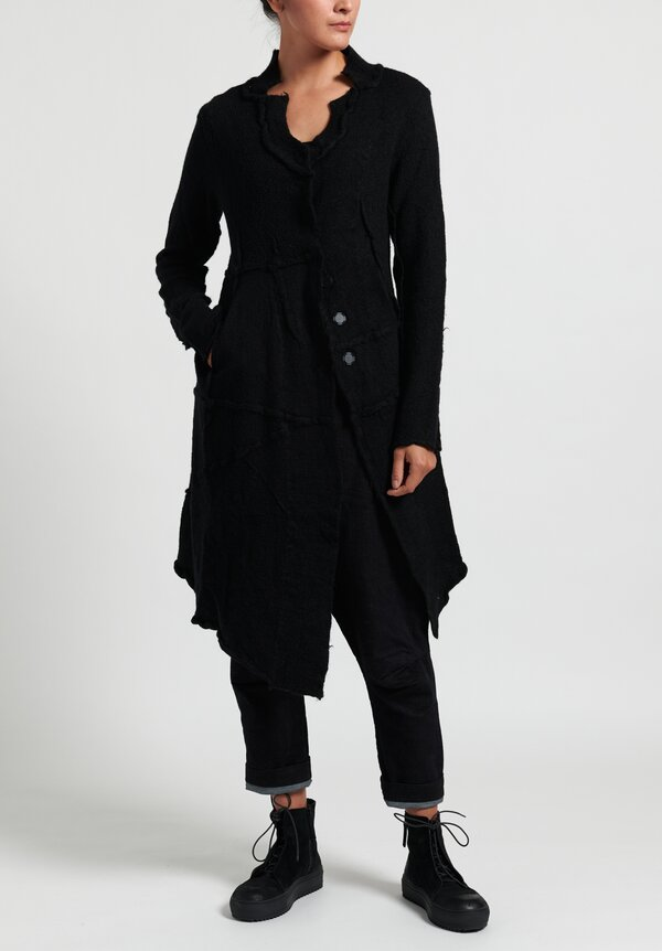 Rundholz Black Label Asymmetric Magnetic Closure Knitted Coat