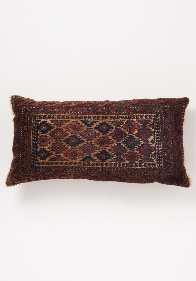 Shobhan Porter Hand Knotted Step Diamond Lumbar Pillow 32in x 16in