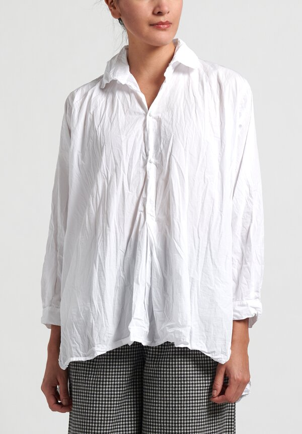Daniela Gregis Cotton Washed Chicory Fratello Shirt in White