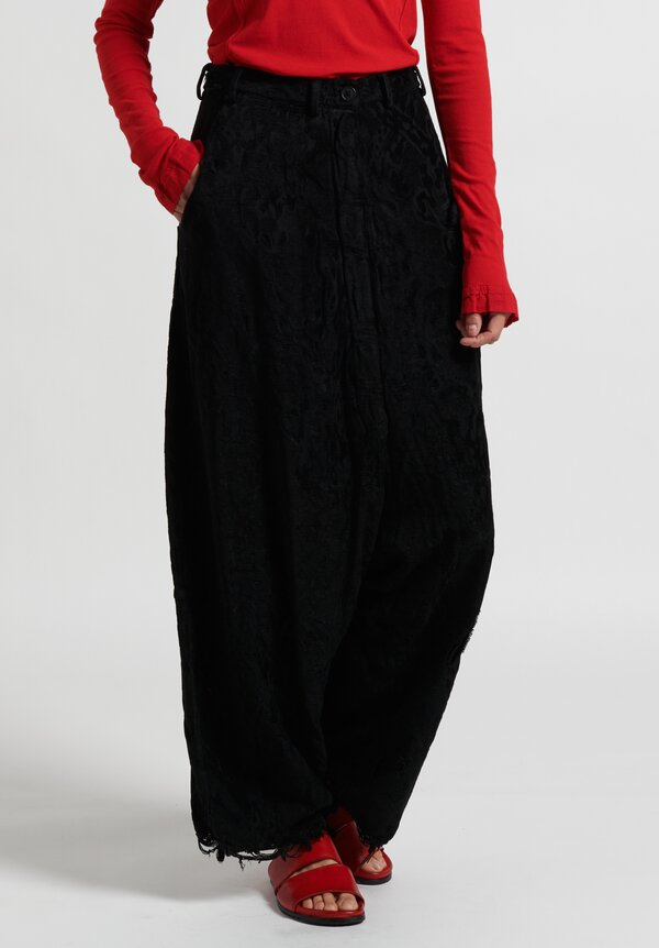 Rundholz Dip Jacquard Drop Crotch Pants in Black