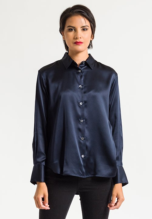 Lareida Silk Shirt in Midnight