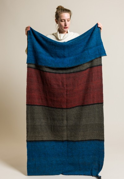 Denis Colomb Dolpo Ndebele Shawl in Blue/Red