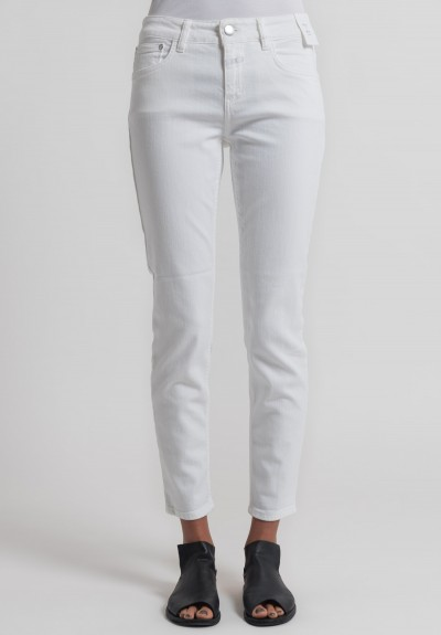Closed Cropped Narrow Jeans in White