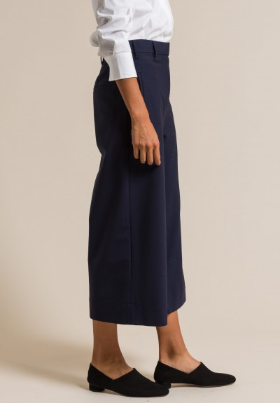 Brunello Cucinelli Cropped Culottes in Navy