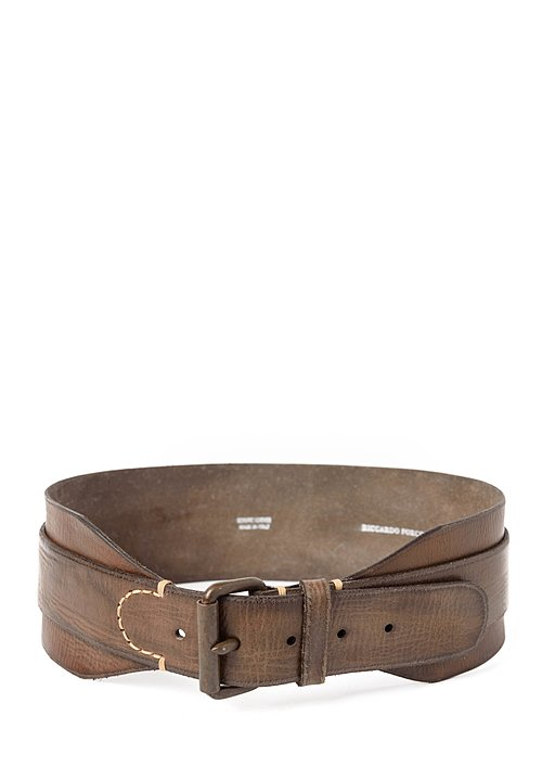 Riccardo Forconi Double Layer Belt in Bronze
