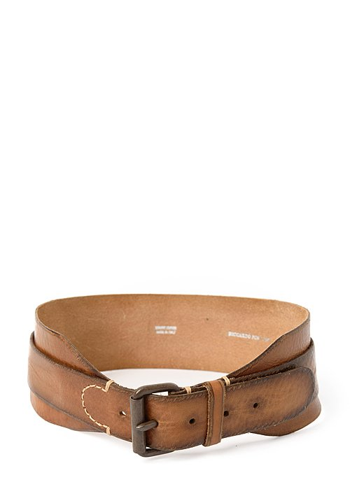 Riccardo Forconi Double Layer Belt in Khaki
