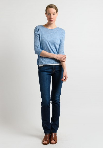 Majestic 3/4 Sleeve Top in Light Blue