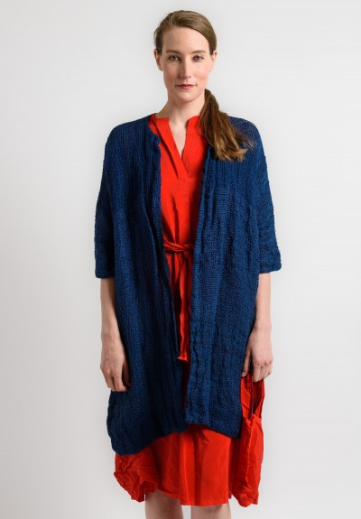Daniela Gregis Loose Weave Jacket in Navy