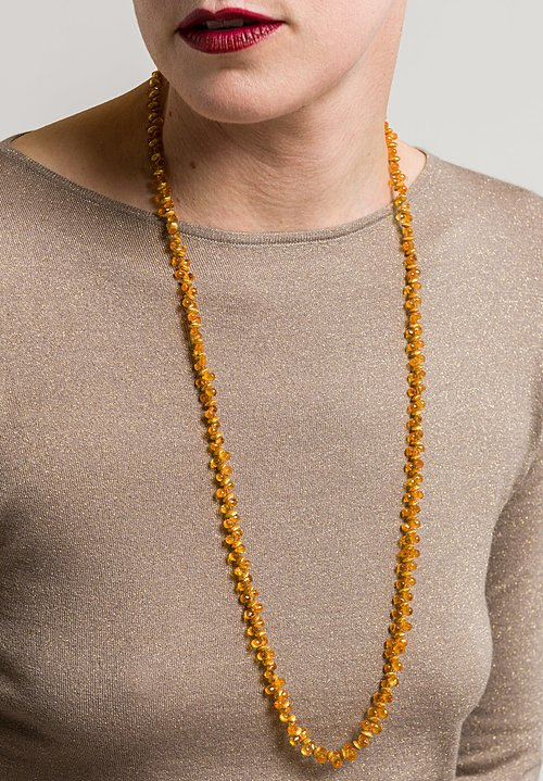 Greig Porter Long Mandarin Garnet Necklace