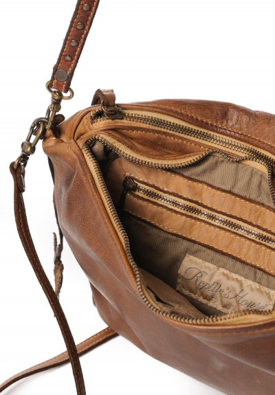 Reptiles House Double Compartment Bag in Mahogany