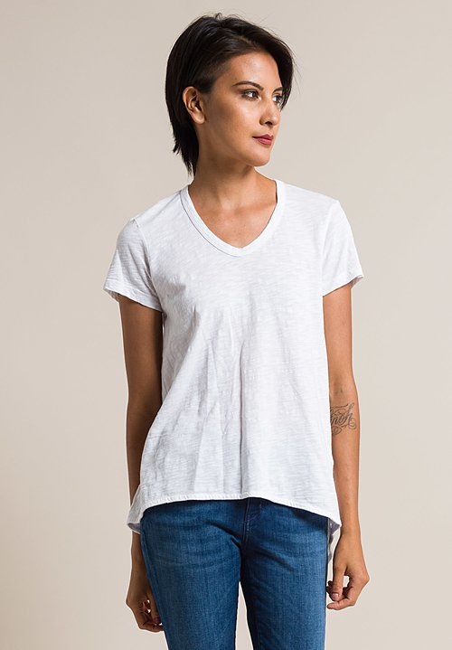 Wilt Scoop Neck Shrunken Boyfriend Tee in White