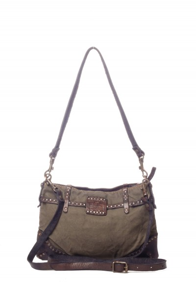 campomaggi small canvas belted cross body bag in military green santa fe dry goods trippen. Black Bedroom Furniture Sets. Home Design Ideas