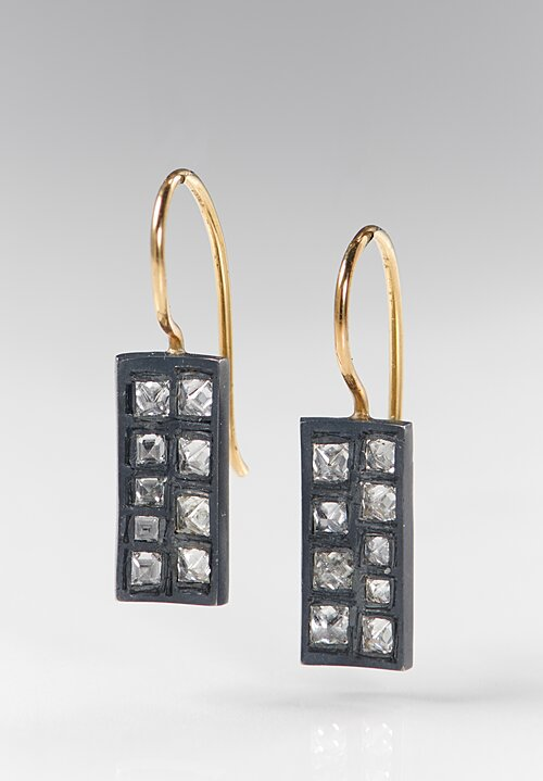 TAP by Todd Pownell Small Concave Rectangular Earrings