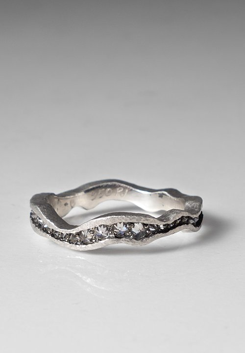 TAP by Todd Pownell Palladium Wavy Eternity Ring