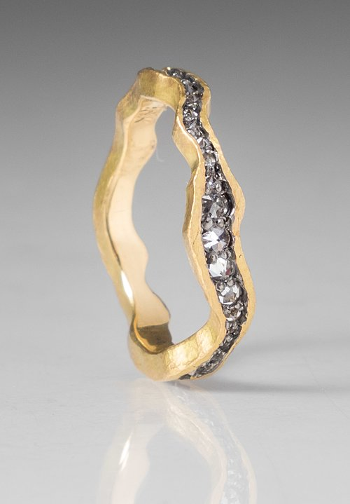 TAP by Todd Pownell 18K Gold Wavy Eternity Ring