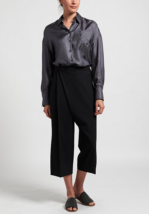 Brunello Cucinelli Folded Front Culottes in Black