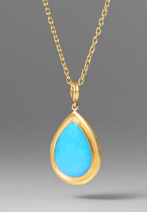 Lika Behar Sleeping Beauty Turquoise Pendant