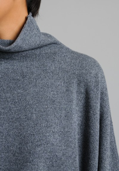 Hania Cashmere Funnel Neck Sweater in Skipness